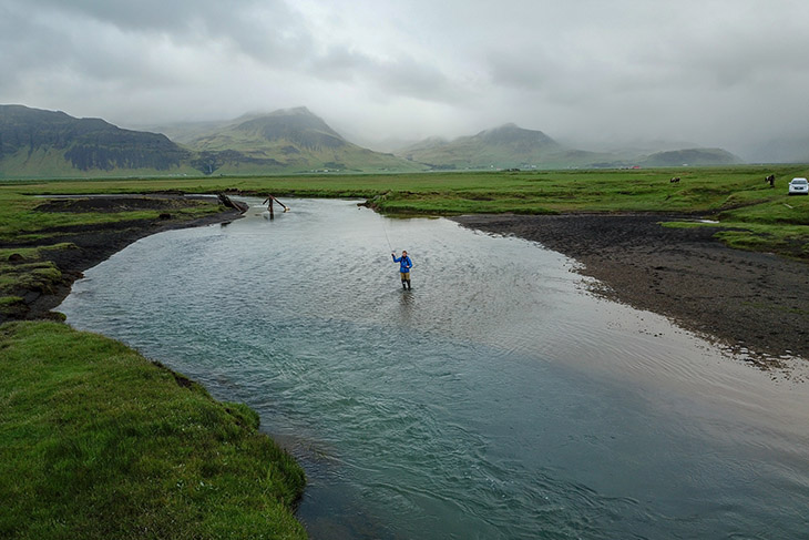 Private fishing in South Iceland at Skálakot