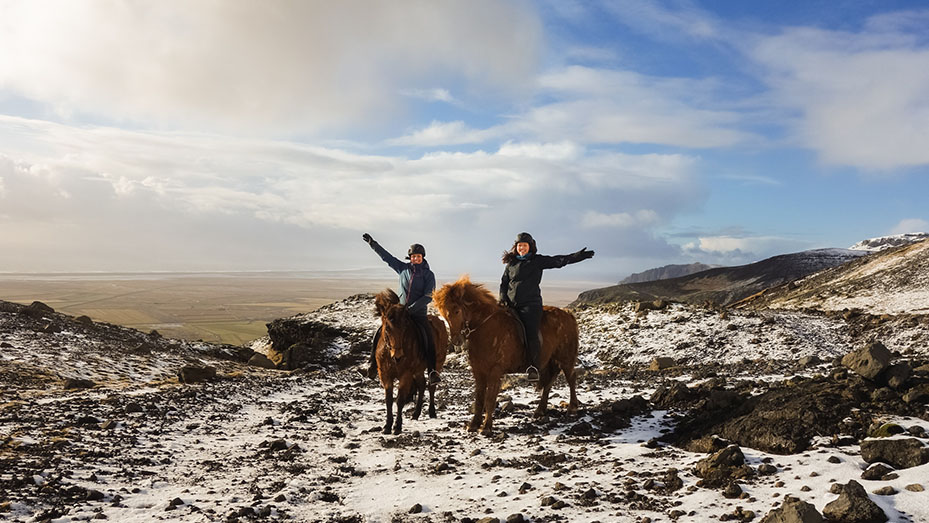 Glacier horseback riding tour in Iceland