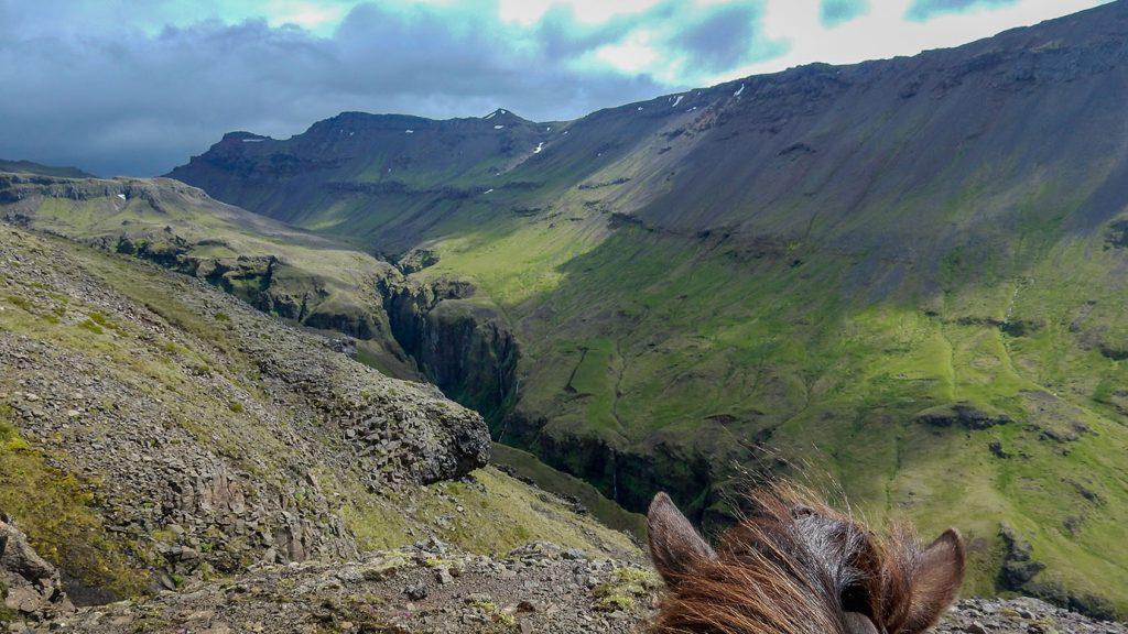 Glacier horseback riding tour in Iceland
